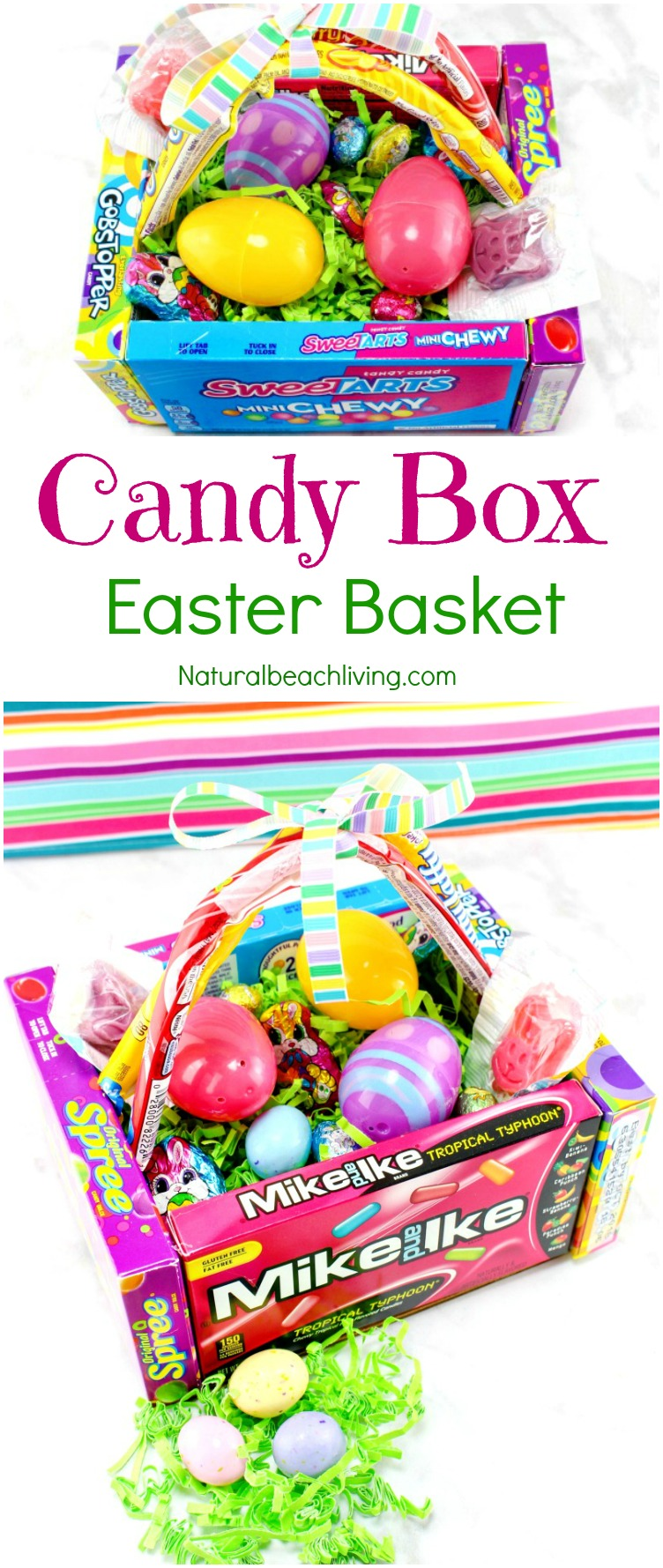 Awesome DIY Candy Box Easter Baskets, DIY Edible Easter Egg Basket that makes a cool gift, Perfect DIY box, Frugal Easter Ideas, Teen gift ideas