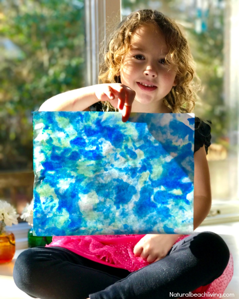epic earth day art activities shaving cream marbled paper