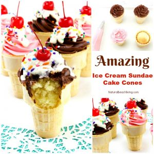 How to Make Amazing Sundae Ice Cream Cake Cones