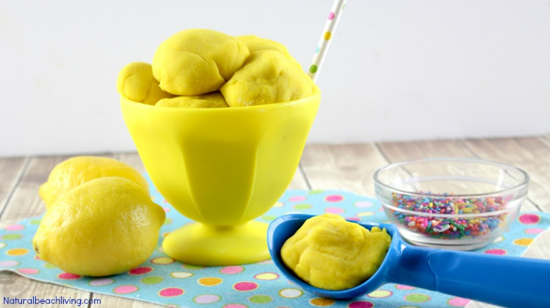 How to Make Amazing Scented Lemon Playdough Recipe, Cooked play dough for kids, Natural scented lemon playdough, Perfect sensory play for kids