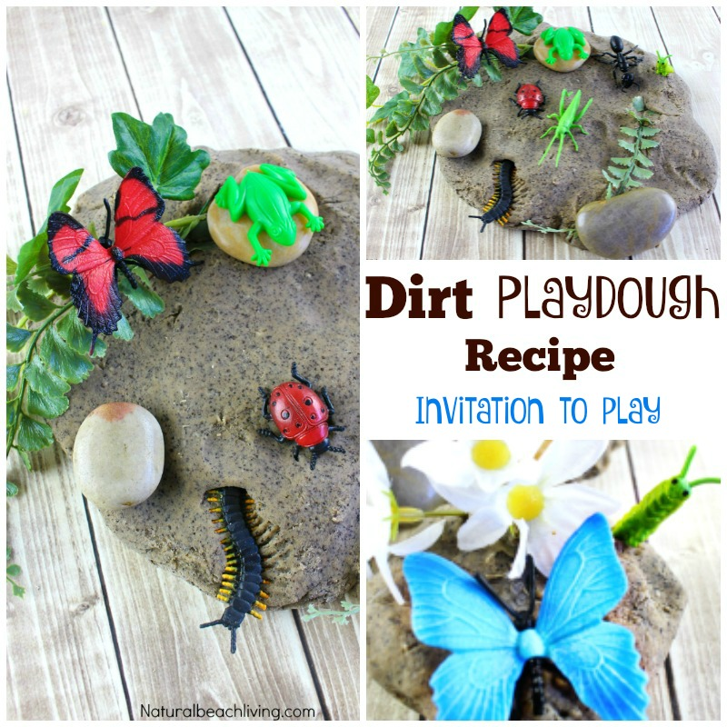 Dirt Inspired Coffee Ground Play Dough Kids Love