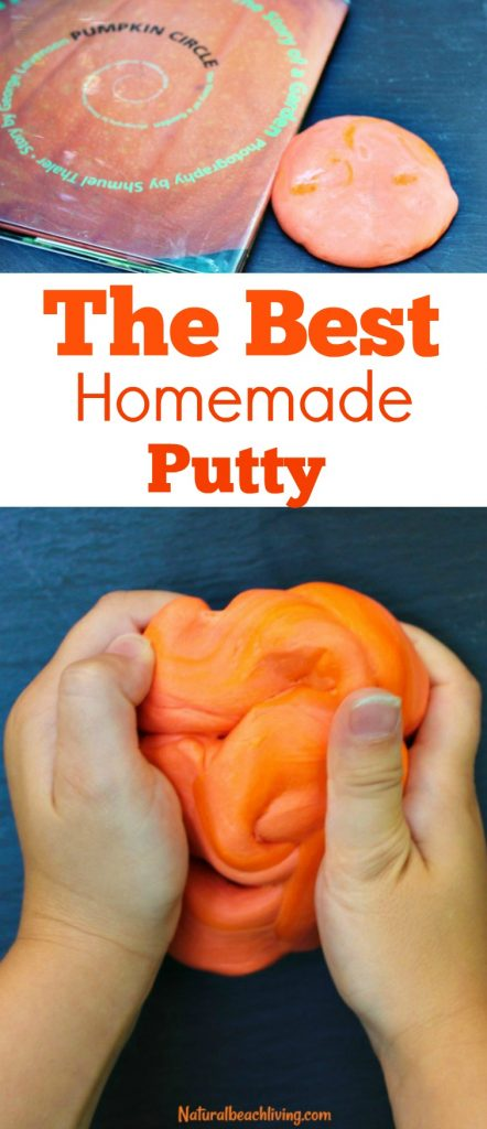 The Best DIY Putty for Halloween, Halloween Putty Recipe, make your own Stress putty, This makes a great Therapy putty and sensory play for the Fall, Halloween sensory Play