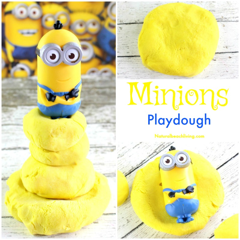 The Most Amazing Minions Banana Playdough Recipe for Kids