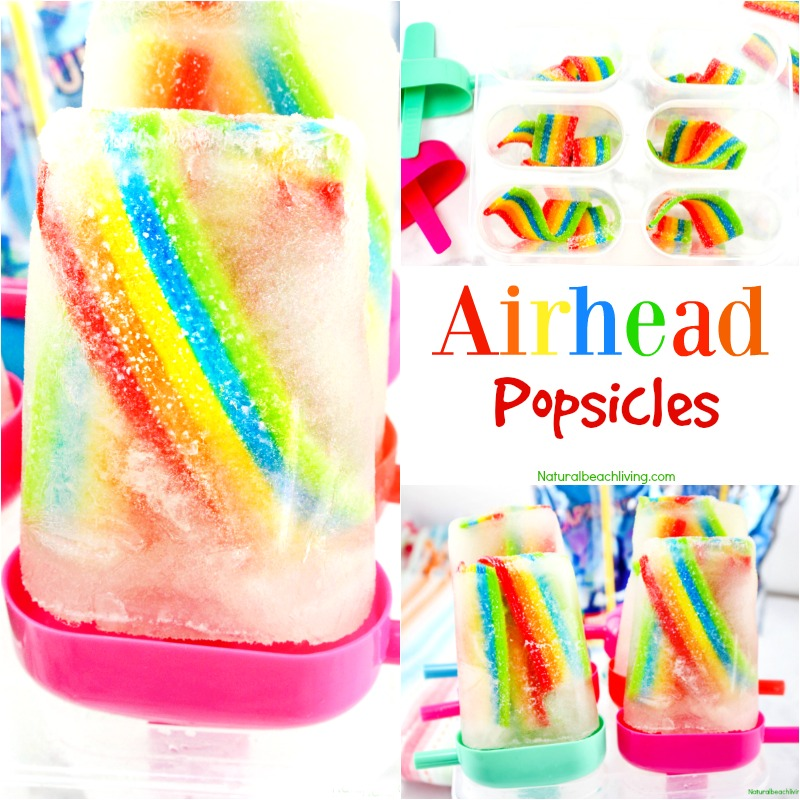 How to Make Fruit Juice Airhead Popsicles, Homemade Juice Popsicles perfect for a fun summer treat or Birthday party, Yummy Kids rainbow popsicle recipe