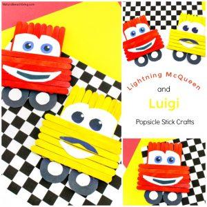 Disney Pixar Cars Popsicle Stick Crafts for kids