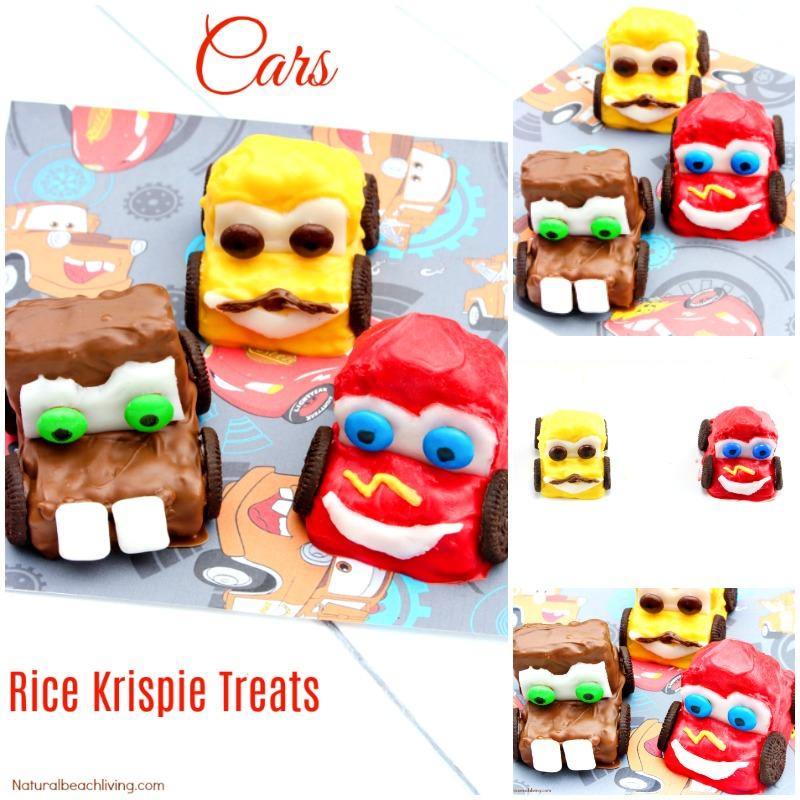 How To Make Disney Cars Rice Krispie Treats Everyone Will