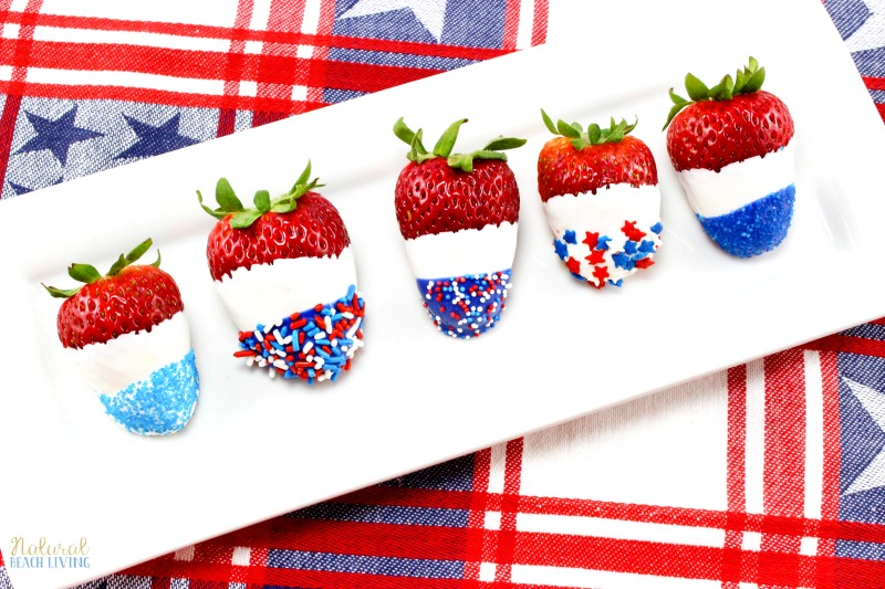 How to Make The Best Chocolate Covered Strawberries Recipe, Perfect Fourth of July & Memorial Day Food, Patriotic Chocolate Covered Strawberries are Yum!