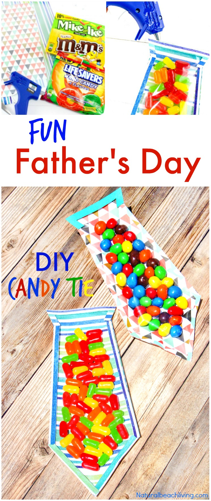 the best diy father u0027s day card father u0027s day candy tie natural