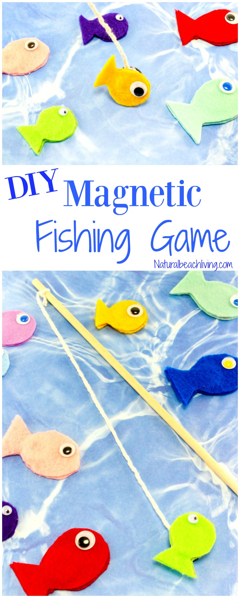 Fun felt diy magnetic fish game for kids natural beach living awesome diy fishing game perfect rainy day activity letter f alphabet activity this solutioingenieria Gallery