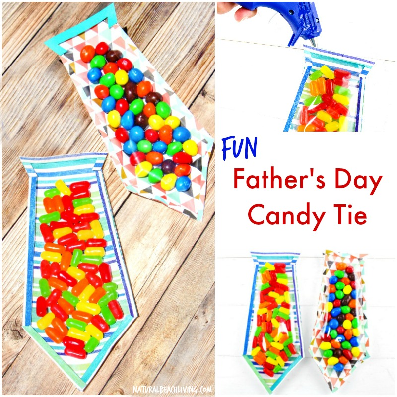 The Best DIY Father's Day Card – Father's Day Candy Tie
