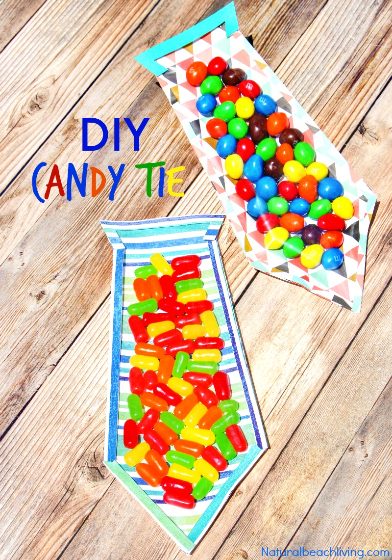 The Best DIY Father's Day Card - Father's Day Candy Tie ...
