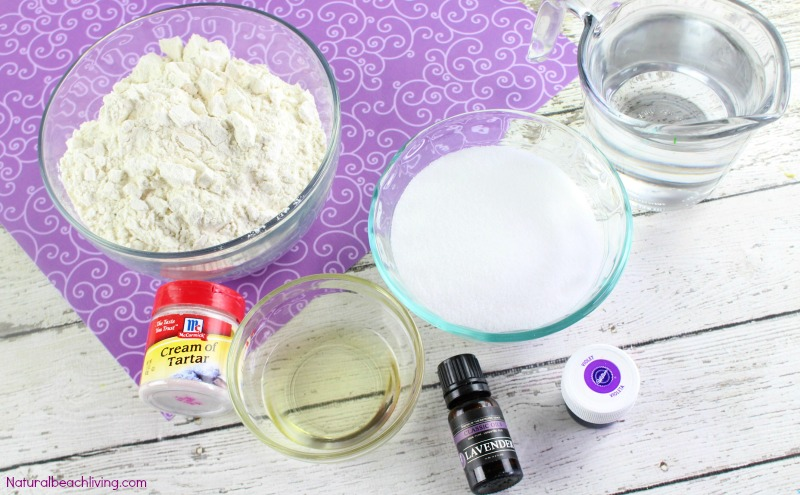 How to Make The Best Lavender Playdough Recipe, Cooked play dough, Calming play dough, Calm down Sensory play, a lovely Homemade playdough recipe