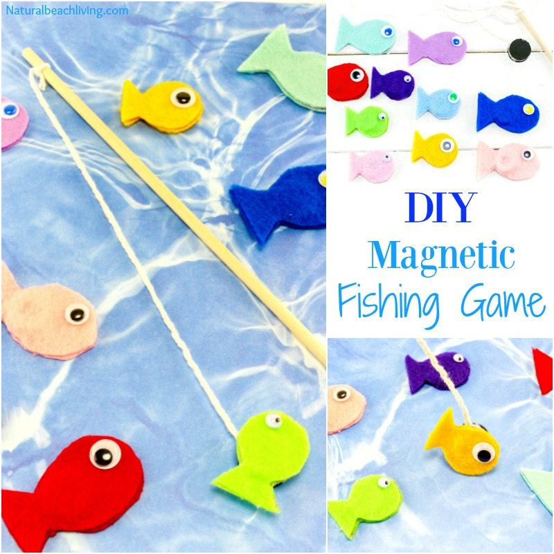 Fun felt diy magnetic fish game for kids natural beach for Game and fish