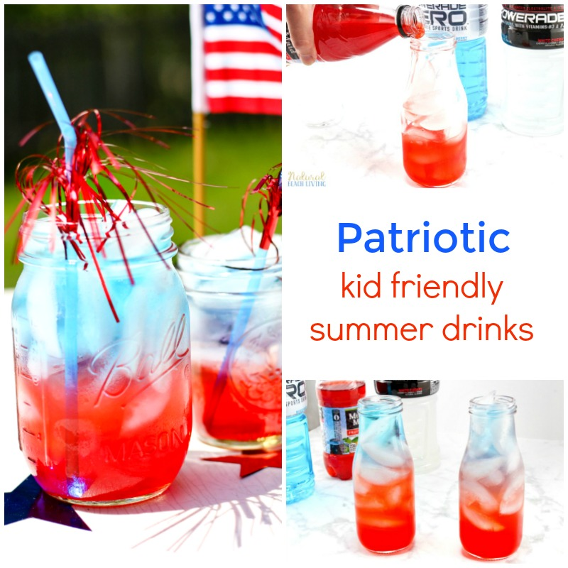 How to make patriotic non alcoholic summer drinks for Fourth of july drinks non alcoholic