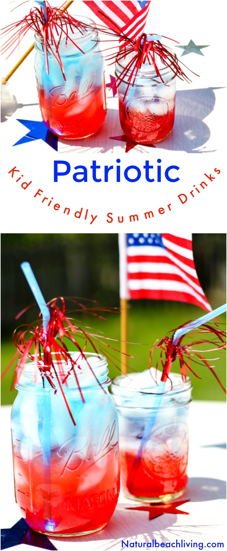 The Best Patriotic Non Alcoholic Summer Drinks, Kid Friendly Summer Drinks, Easy Summer Drink Recipe Everyone Loves, Perfect July 4th Recipe Party Idea