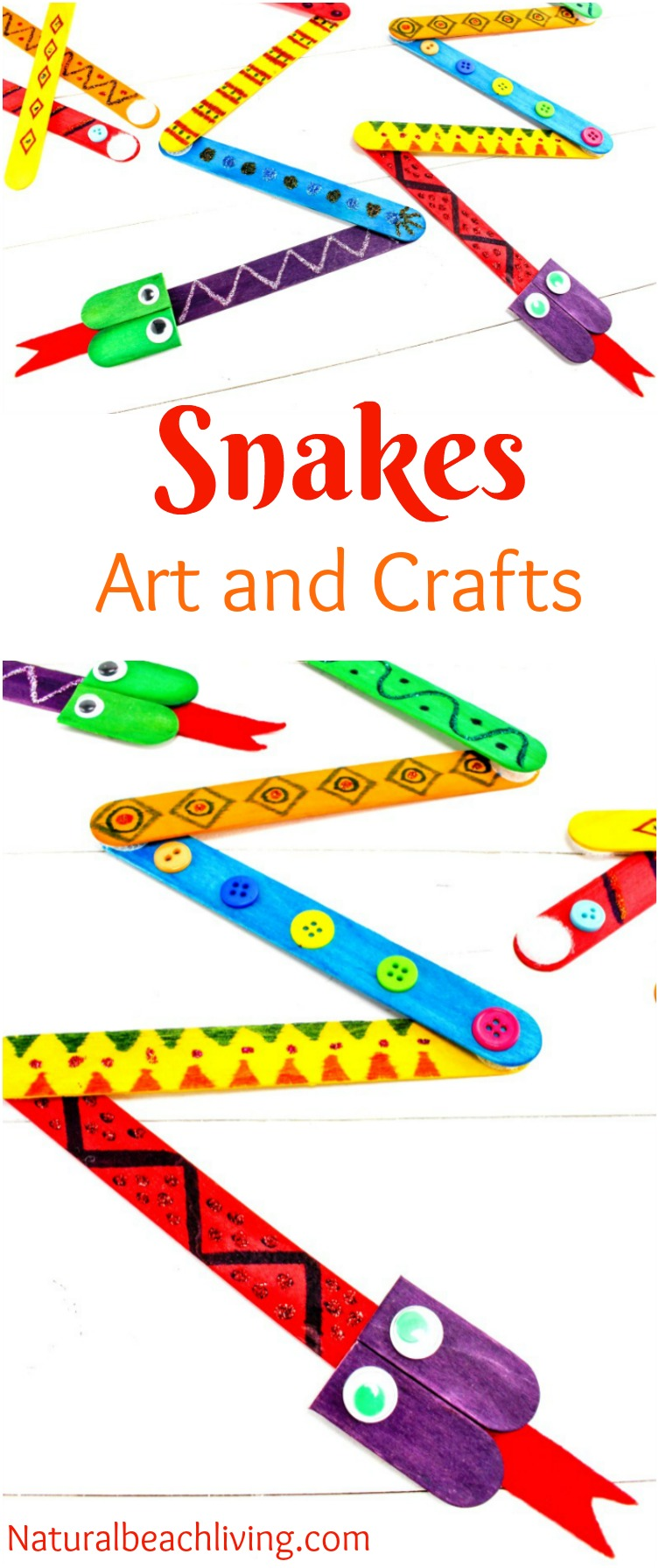 The best snake crafts preschoolers love to make natural for Reptile crafts for kids