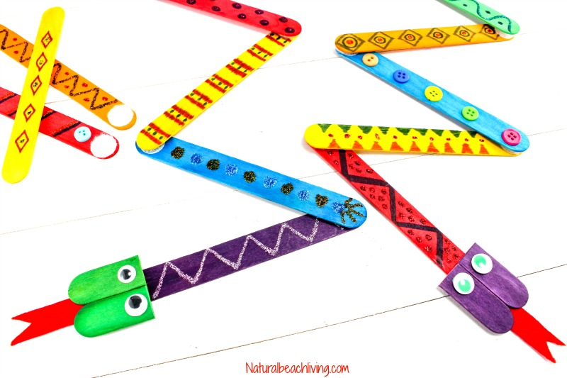Mix and Match Snake Crafts Preschoolers will love to make, Have fun Decorating these perfect Snake Crafts for Kids, S is for Alphabet Snake Craft kids love