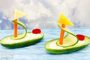 Cucumber Boat Shaped Snack for Kids