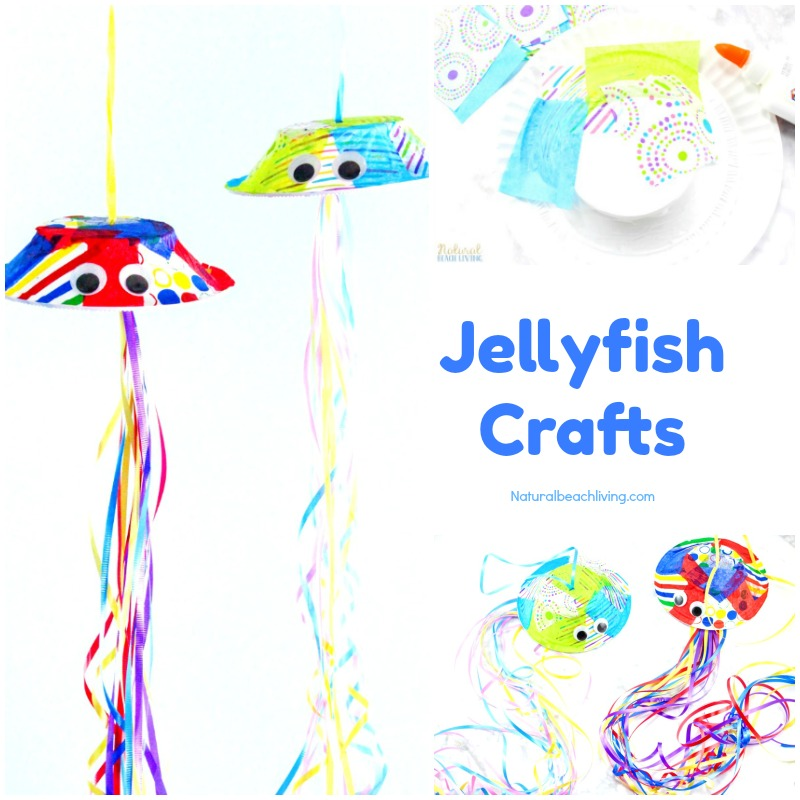 How to Make Adorable Jellyfish Crafts Preschool Activity, Paper Bowl Jellyfish, Perfect Under the Sea Theme or Ocean Unit Study, Ocean Animals Crafts