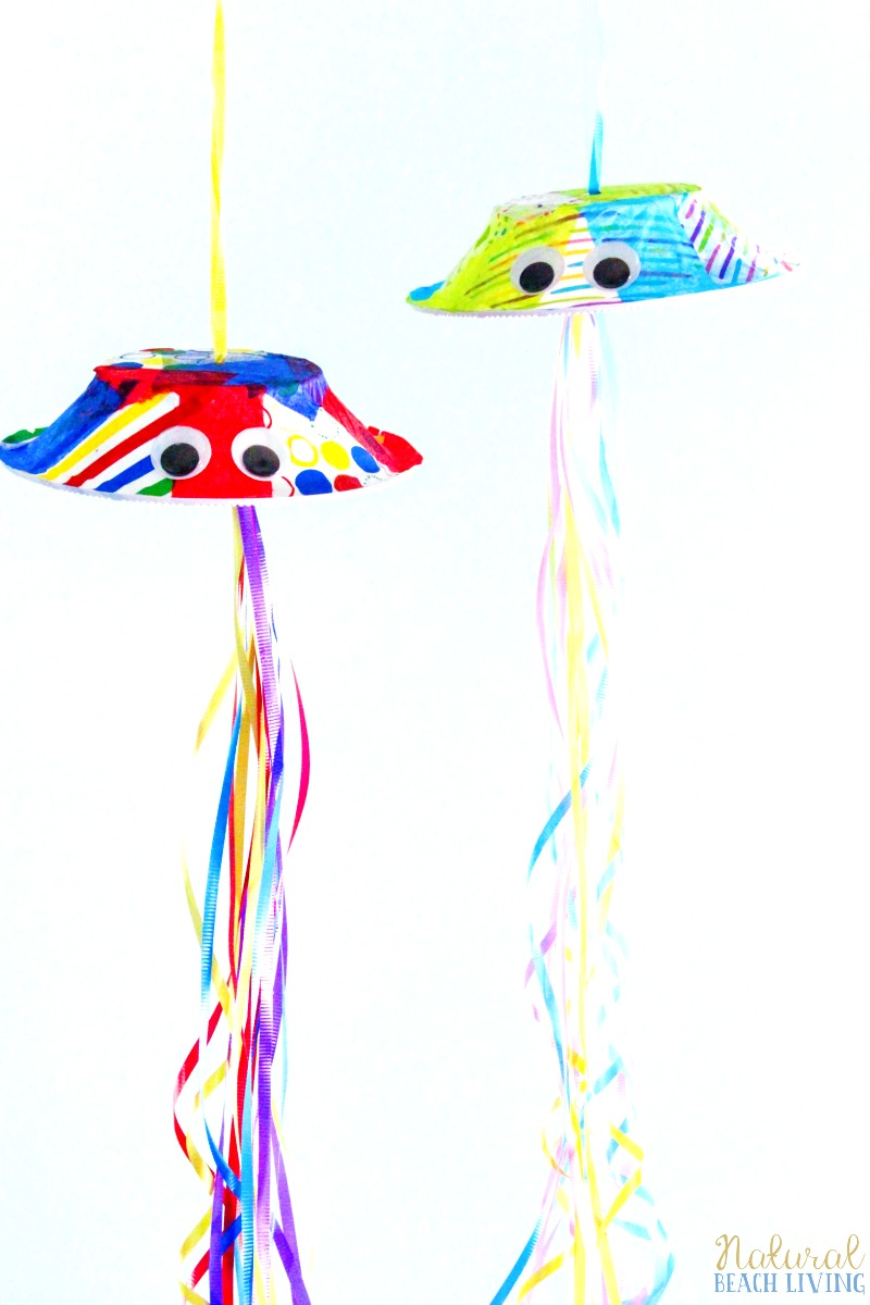 Jellyfish Crafts Preschool Activity, Paper Bowl Jellyfish Craft Idea, Perfect for an Under the Sea Theme or Ocean Unit Study, Ocean Animals Crafts for Kids