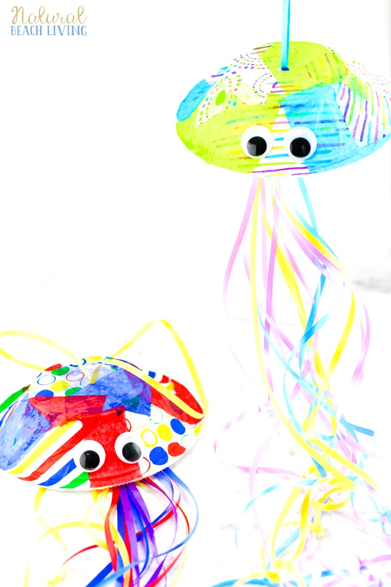 Unit study colors preschool - Jellyfish Crafts Preschool Activity Paper Bowl Jellyfish Craft Idea Perfect For An Under The