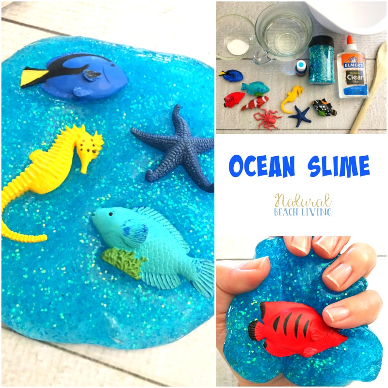 The Best Ocean Theme Recipe for Slime, Jiggly Slime, Under the Sea Theme Activities, How to Make Slime, Perfect Glittery Slime Recipe for Kids, Ocean Activities