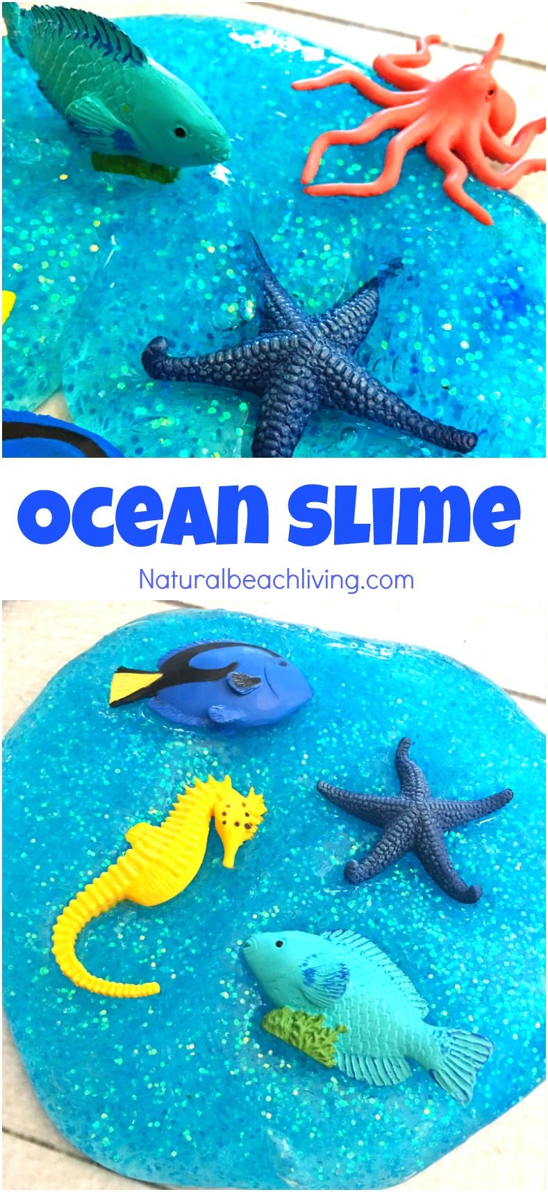 Best Ocean Theme Recipe for Slime, Ocean Slime Recipes, Jiggly Slime, Under the Sea Theme Activities, How to Make Slime, Perfect Glittery Slime Recipe for Kids, Ocean Activities #slimerecipe #slime