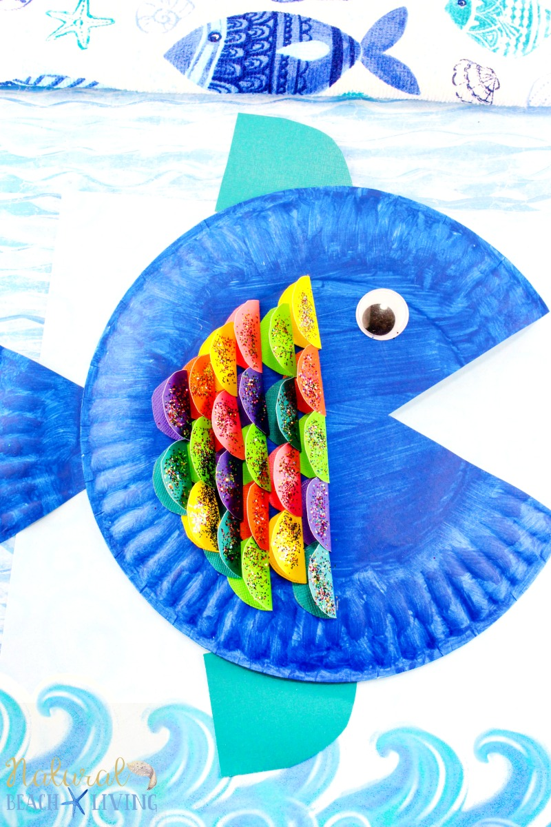 Super Cute Paper Plate Fish Craft for Kids