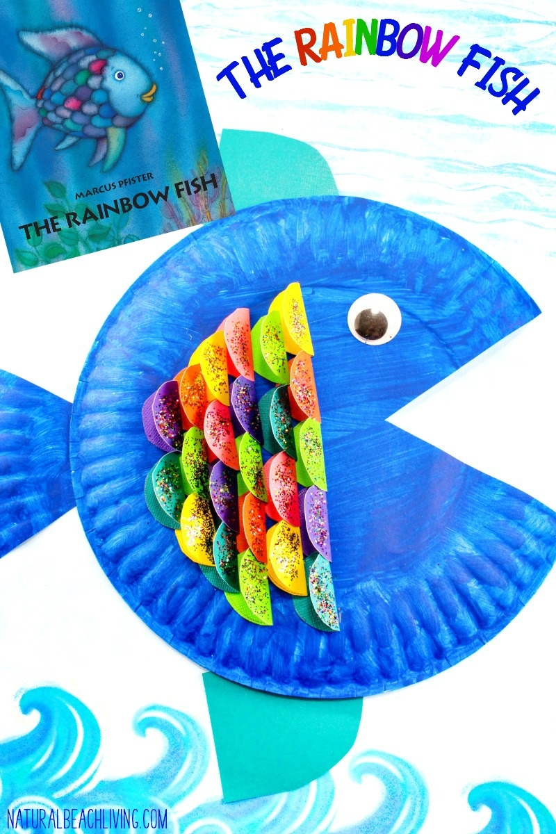 Super cute paper plate fish craft for kids natural beach for The rainbow fish