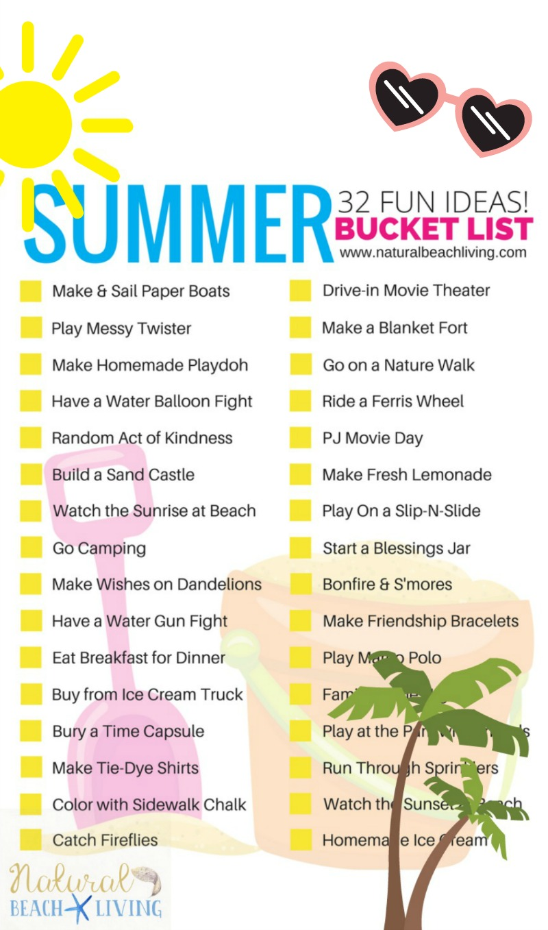 Awesome Summer Bucket List Ideas For Kids Fun To Do With