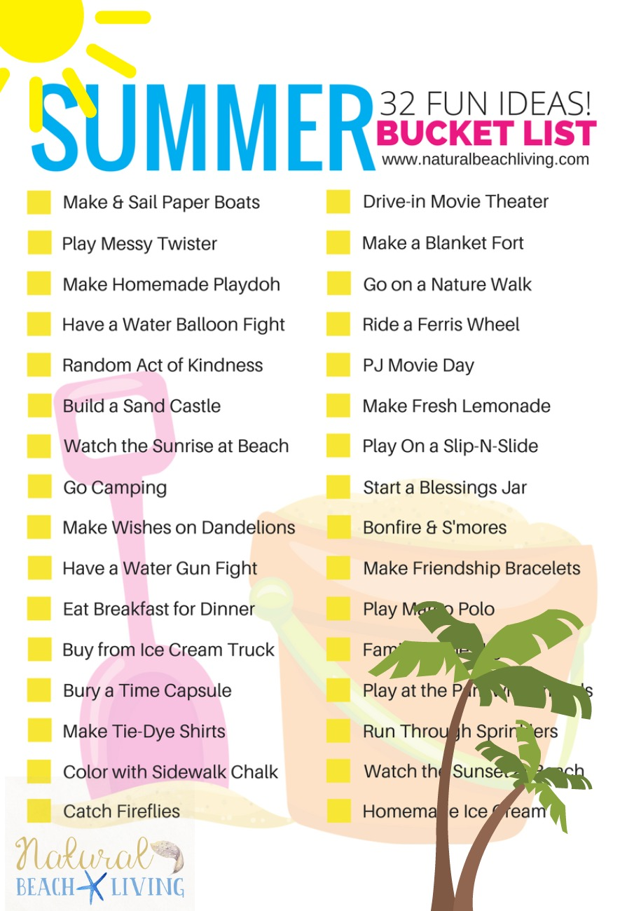 Awesome Summer Bucket List Ideas for Kids (Free Printable)