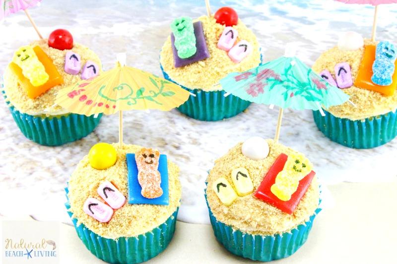 Beach Cupcakes, Summer themed cupcakes