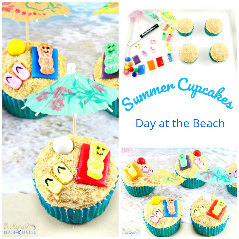 Summer Themed Cupcakes Beach Day