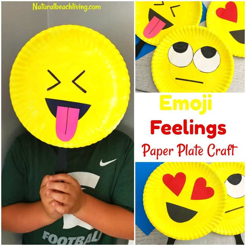 Super cute emoji paper plate craft emotions theme party for Emotion art projects