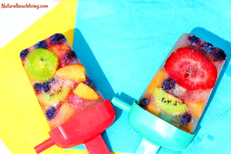Healthy Homemade Fruit Popsicles, Fresh Fruit Popsicles, Summer treats for kids, delicious real fruit popsicles, easy to make snack idea, Healthy Snack, Yum