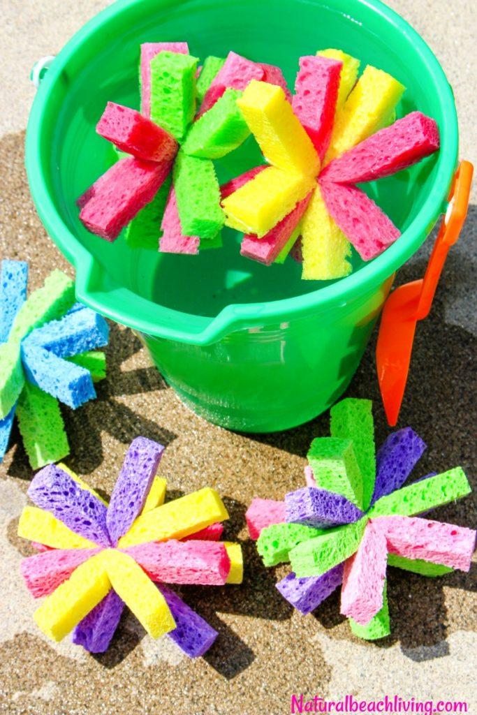 fun diy summer sponge balls, water activities for kids
