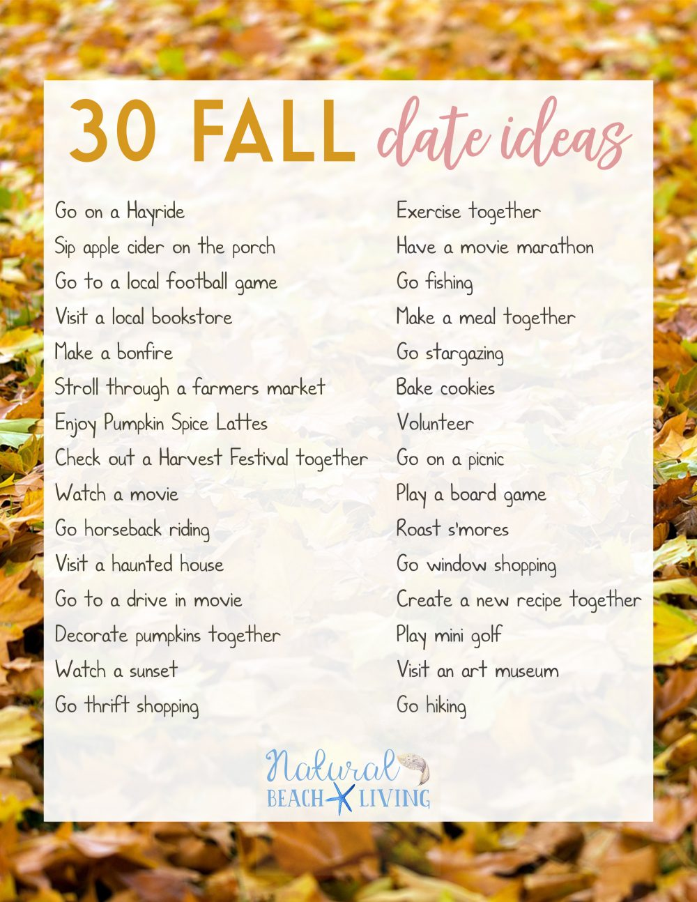 Fun Date Night Ideas for Fall - Natural Beach Living