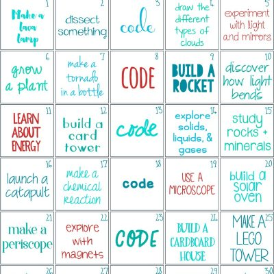 30 days of STEM Activities – STEM Challenge