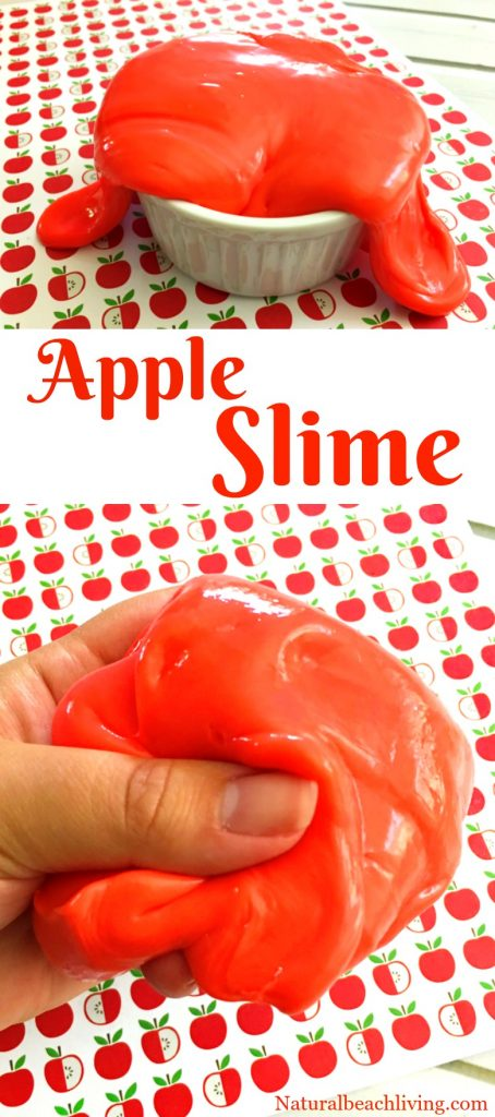 How to Make Jiggly Slime, Cinnamon Apple Scented Slime, Slime recipe, Jiggly Slime recipes, Fall sensory play, Apple theme, Borax Slime,