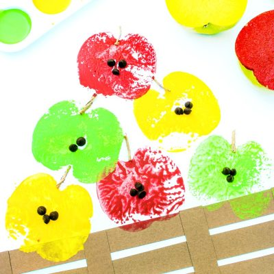 How to Make The Most Adorable Apple Stamping Craft with Kids