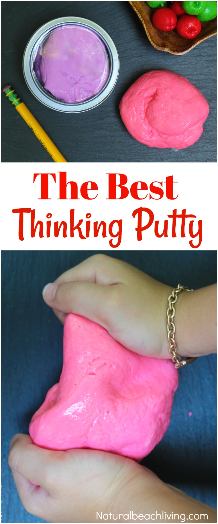 The Best Thinking Putty Recipe You'll Ever Make, Thinking Putty, DIY Thinking Putty, Silly Putty Recipe, Homemade Stress Putty, Therapy Dough, Sensory Play