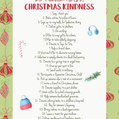 25 Random Acts of Christmas Kindness Printable