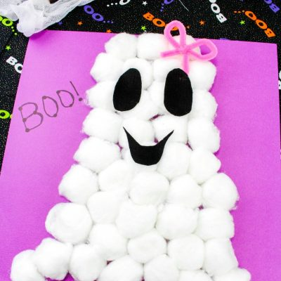 Cute and Easy Cotton Ball Ghost Craft for Preschoolers