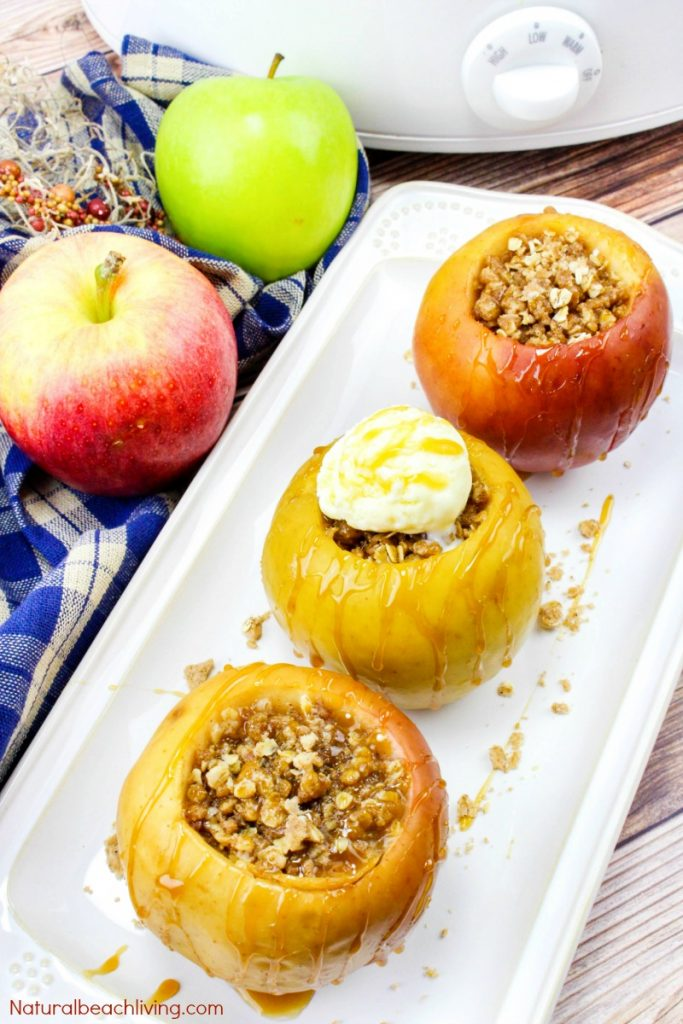How to Make Delicious Crock Pot Baked Apples, Crisp Apples Stuffed with Yummy Goodness, The Best Fall Recipe, Easy Baked Apples, Baked Apple Recipes, Fall Food