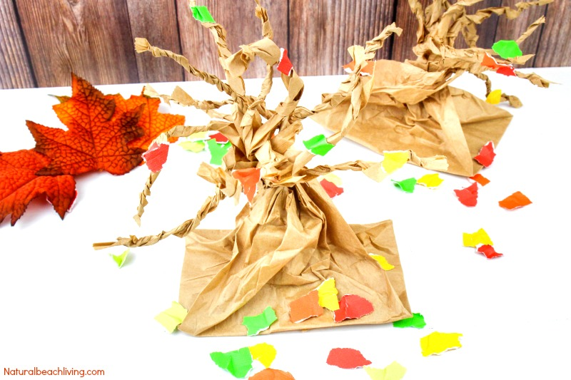 Fall Tree Paper Bag Crafts Kids Love