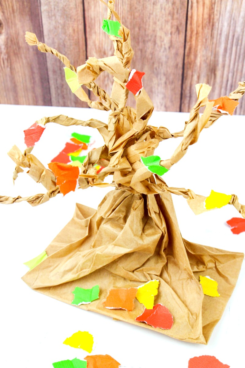 fall tree craft ideas fall tree paper bag crafts living 4427