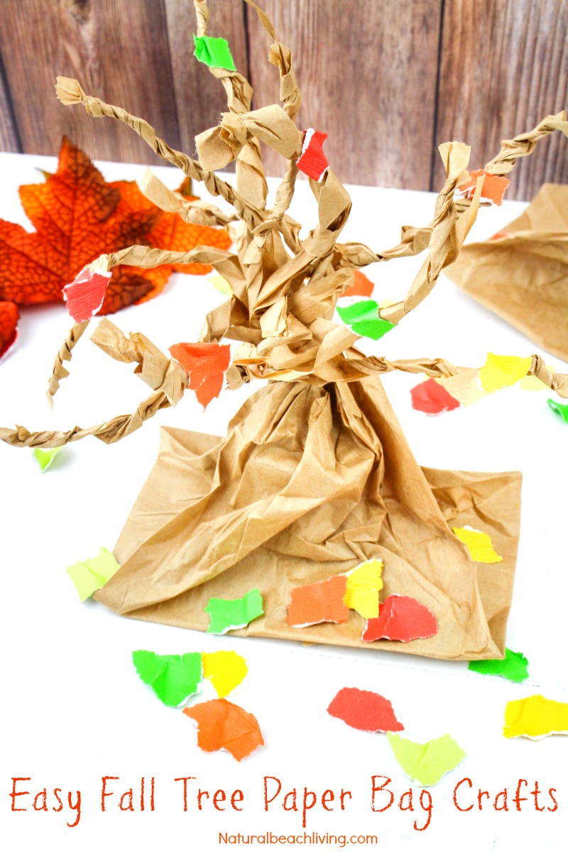 Fun Fall Tree Craft Paper Bag Crafts Kids Make
