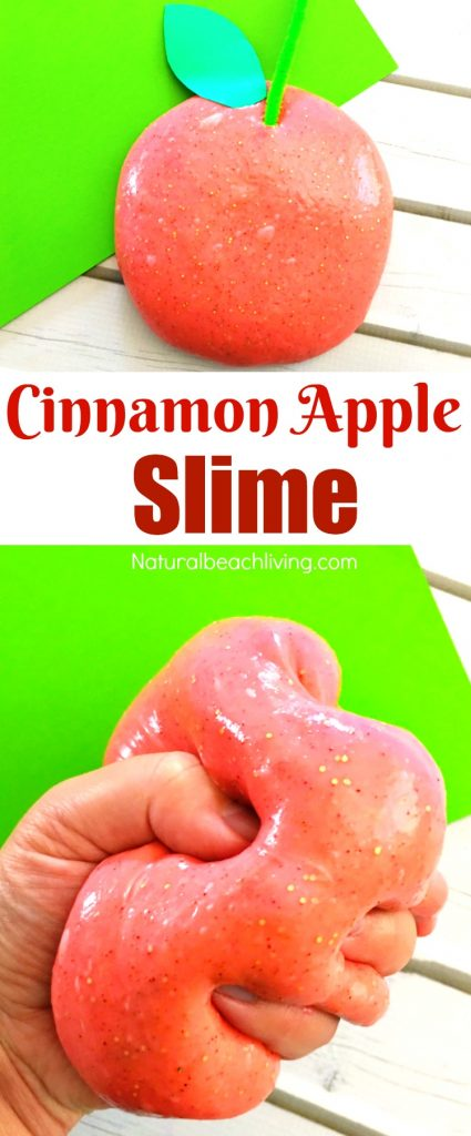 Easy apple cinnamon slime recipe for kids