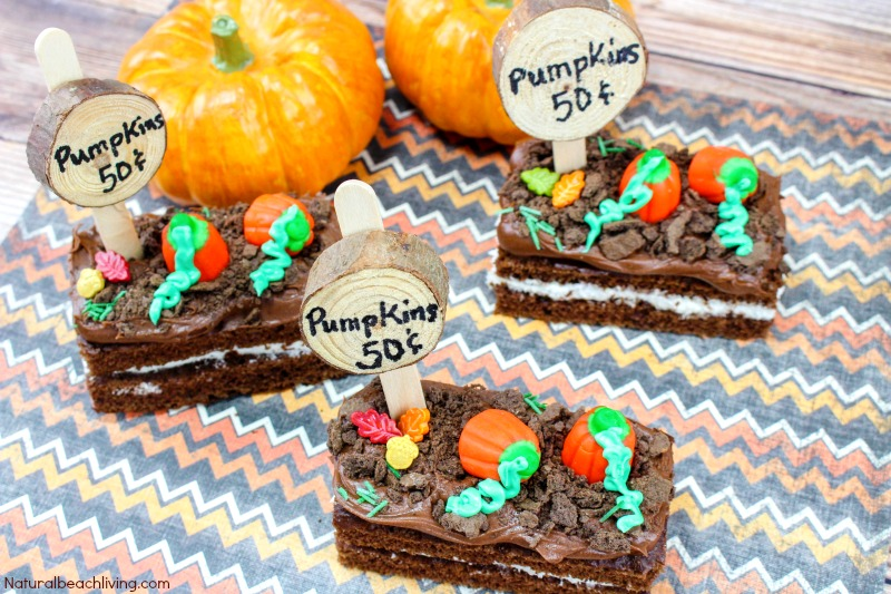 How to Make Easy Pumpkin Patch Snacks, Halloween Snack Ideas for Kids, Dirt Snack Ideas, Halloween Party Snack, Fall snacks kids love, Fall Recipes, Pumpkin Snacks