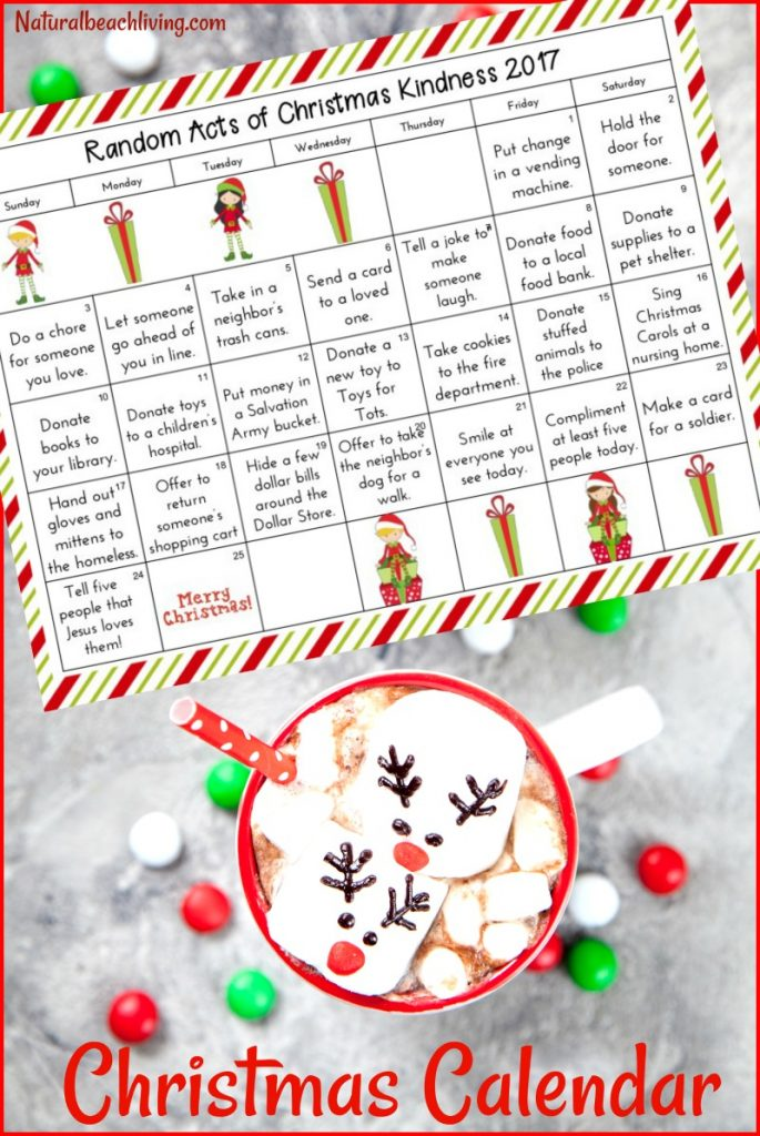 25 Random Acts of Kindness Christmas Calendar, Random Acts of Kindness ideas, random acts of kindness for Christmas, Random Acts of Christmas Advent Calendar, RAOK, #randomactsofkindness #raok #actsofkindness #Christmasactivities #Christmas